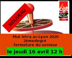 Calendrier Mouvement Intra Academique 2020.Mutation Intra Academique 2eme Degre 2019 Cgt Educ Action 69